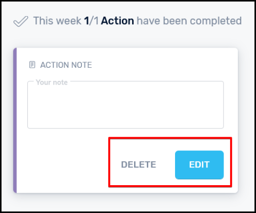 delete and edit buttons for note on simple seo tool