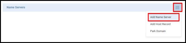 hamburger icon to update name server