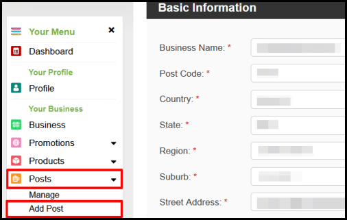add post option in Top4 account manager