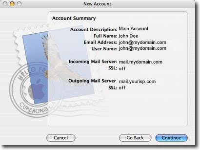 mac os mail setup step 8