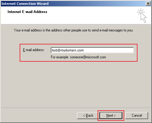 outlook express setup step 4