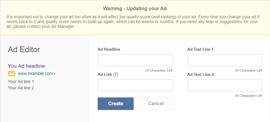 getting started with your ad