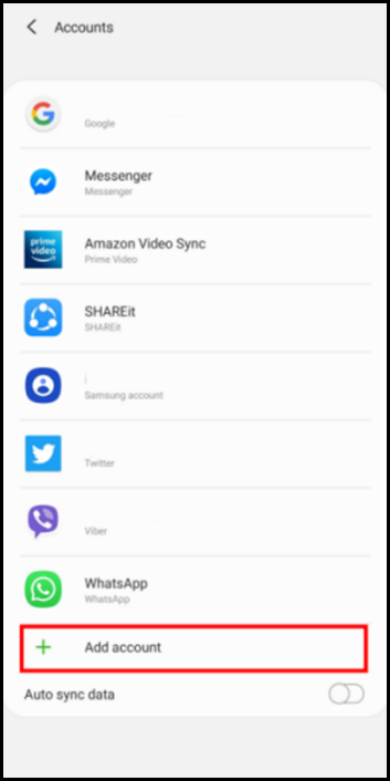 add account screen on android set up email exchange