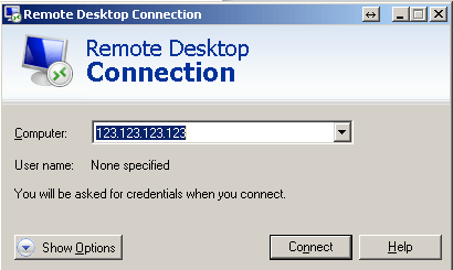 using Remote Desktop step 3