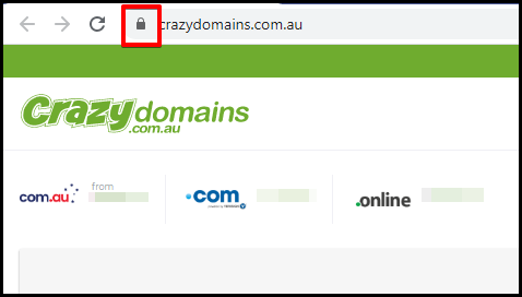 padlock icon on web address bar indicator of a secured website