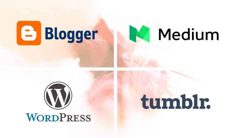 Why should you blog - blogger, medium,wordpress and tumblr logo