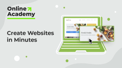 Create Websites in Minutes